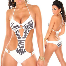 One Piece Women's Bikini Swimwear Golden Leopard Striped Europe The United States Swimsuit New Nylon S M L 4 Colors Hot