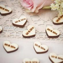 50pcs English alphabet heart shape MR&MRS decoration Wooden props wedding for guests supplies shoot DIY  buckle Unique Guestbook