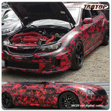 TAOTOP 1.52*30m High quality 8 colors Digital Camo car body vinyl wrap Film for cars wrapping