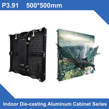 4pcs/lot P4.81 SMD indoor 500*500mm LED Display DieCasting Cabinet panel led video rental advertising wedding hotel stadium(China)