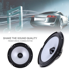 Universal New 2 PCS 6.5 Inch 60W Car Speaker Automobile Car HiFi Audio Full Range Frequency Speaker High Pitch Loudspeaker(China)