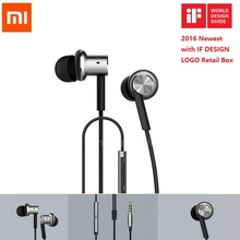 Original Xiaomi Hybrid Piston Mi earphone with Mic Wire Control For Android iPhone earphones IF Design LOGO Retail Box