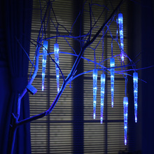 Tree Lights 31CM 8LEDs Crystal Ice picks Meteor Shower Rain Tubes Christmas Holiday Party Garden String Light Outdoor Lighting(China)