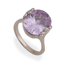 Simple Design New Fashion Jewelry Purple Finger Rings Multi Colors Engagement Popular Jewelry for Women