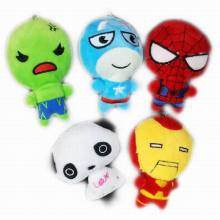 Bulk 40PCS 11cm Cosplay The Avengers Minions Panda Captain America Superman Spider-Man Batman Iron Man Thor Plush Toys