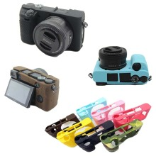 Nice Soft Camera Video Bag For Sony A5000 A5100 A6000 A6300 A6500 Silicone Case Rubber Body Cover Skin