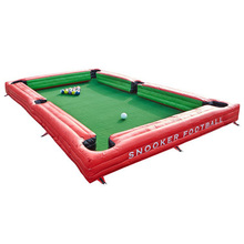 Inflatable Snookball Field Gaint Soccer Snook Ball Game Huge Billiards Pool with 16 Football  Ball Toy Snooker