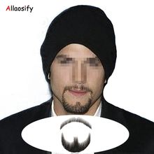 Allaosify Factory sell man false whiskers, invisible false mustache and full beard for costume. Fake mustache(China)