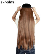S-noilite Hair Extensions Black Brown Blonde Natural Straight 58-76cm Long High Tempreture Synthetic Hair Extension Hairpiece(China)
