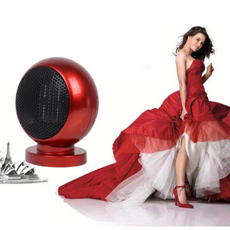 2017 Newest ! PTC Ceramic Space Heater Electric 220V 500W Warm Winter Mini desktop Fan Heater Forced Home Applicance <br>