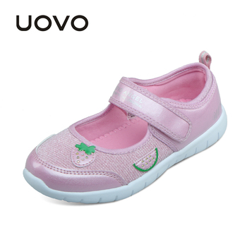 UOVO 2017 new kids shoes fashion girls princess casual shoes light brand little girls dress shoes for school spring&summer