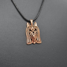 Sykesha 2018 Women's Jewelry Rope Chain Pendant Necklace Rose Gold Australian Silky Terrier Necklaces For Lovers Drop Shipping(China)