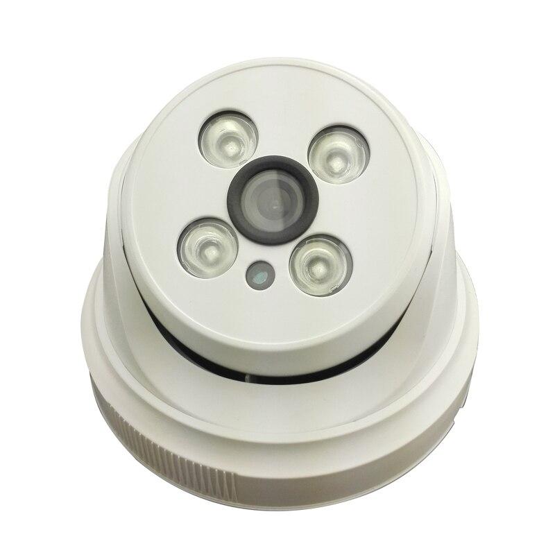 2.0MP indoor dome network IP camera 1080P night vision light plastic 4IR P2P onivf security<br>