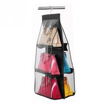 Ladies Handbag Storage Organizer Closet Women Tote Rack Hangers 6 Pockets for Hanging Bag Purse Handbags Bags Household Storage