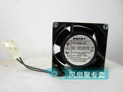 Original German PAPST 8CM 8038 230V TYP 8556VW full metal heat exchange cooling fan<br>