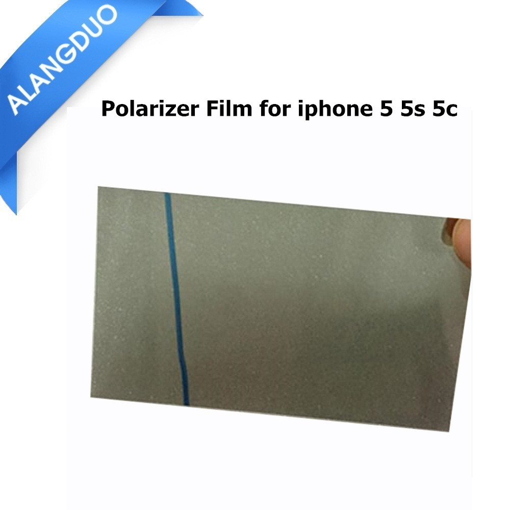 ALANGDUO 50pcs/lot For iPhone 4 4s 5 5s 5c 6 6s plus LCD Polarizer Film Polarization film Polarized Light Film + Tracking Code(China (Mainland))