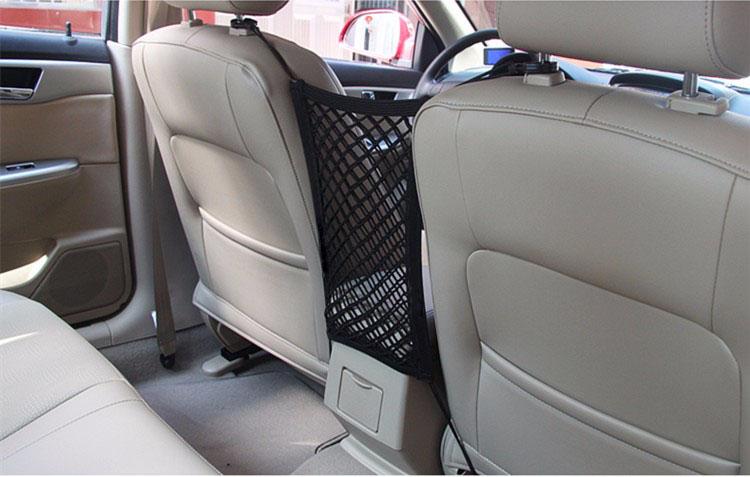 24X25cm Universal Elastic Mesh Net trunk Bag/Between Car organizer Seat Back Storage Mesh Net Bag Luggage Holder Pocket 2