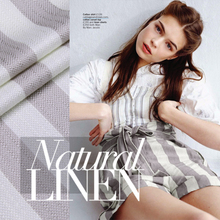 Heavy linen striped dress coat fashion fabrics wrinkle linen fabric wholesale high quality linen cloth