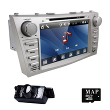 "8"" Car DVD Player GPS SAT NAVI For TOYOTA Camry AURION 3G Bluetooth iPod 7668TA gps navigation 2din car Monitor steering wheel(China)"