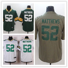 Mens 52 Clay Matthews Jersey 2017 Rush Green Salute to Service High Quality Football Jerseys(China)