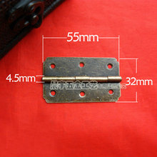 55*32MM Antique Wooden hinge Green bronze Lace hinges Hinge 180 degree flat hinge Provided screws Wholesale(China)