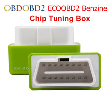 10pc/lot Green EcoOBD2 Chip Tuning Box For Benzine Cars Eco OBD2 Plug and Drive Economy Car Fuel Saver & Lower Emission