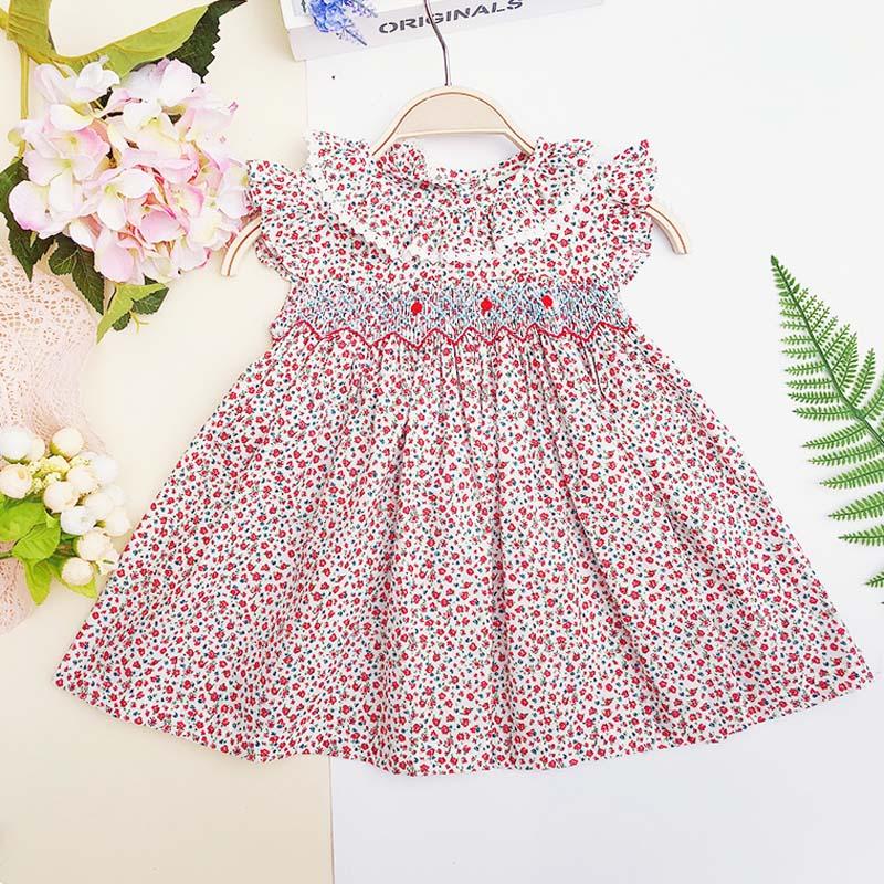 UK Vintage Toddler Infant Baby Girl Clothes Short Sleeves Dress Summer Dresses