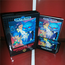 Wonder Boy US Cover with box and manual For Sega Megadrive Genesis Video Game Console 16 bit MD card(China)