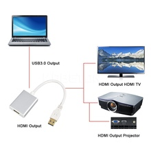 Kebidumei 5Gbps Input USB 3.0 to HDMI Output Graphic Adapter for MAC HDTV Projector for PC Laptop Notebook 1080P Cable Converter(China)