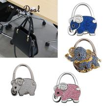 4 Pieces Elephant Shape Foldable Handbag Purse Hook Hanger Bag Ornament
