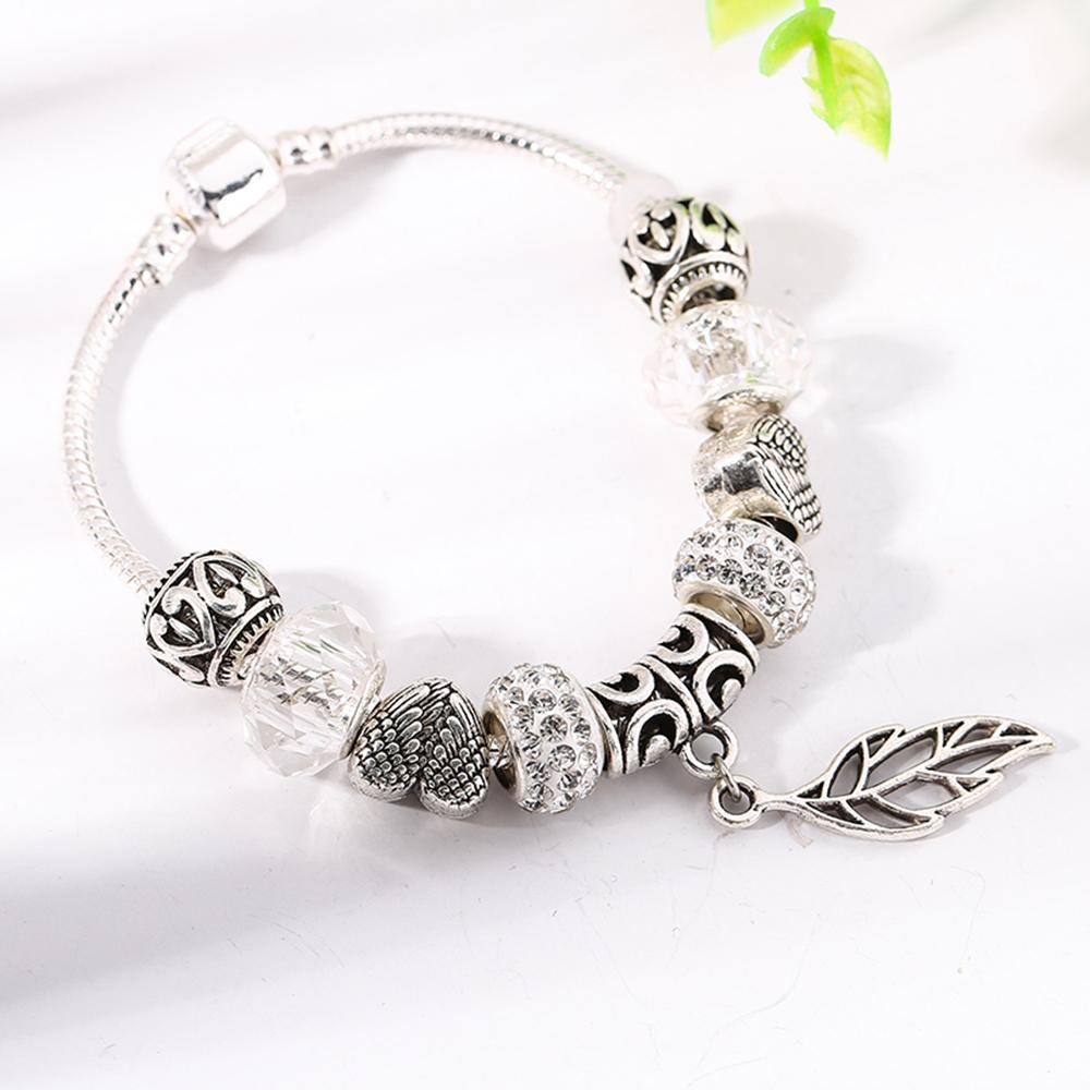 Maple Leave Dangle Charm Bracelet