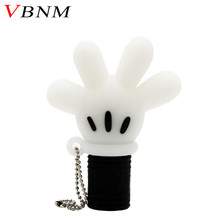 VBNM cute Mickey hand pen drive Mickey Mouse glove usb flash drive pendrive 4GB 8GB 16GB 32GB cartoon animal cat palm gift