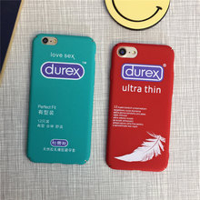 2017 New Fashion Fun personality for Durex condoms for iphone 6s plus for Apple 7 phone shell PC Hard shell Cover all-inclusive