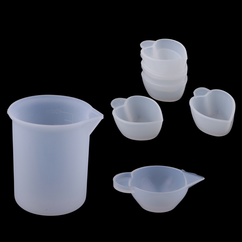 3 reusable resin mixing silicone cups for resin jewelry craft handmade tools
