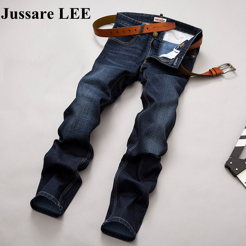 2017 Autumn Winter jeans pants Full Length Straight Solid Male mens denim Pant Mid Zipper Fly famous brand jeans Stretch JeansОдежда и ак�е��уары<br><br><br>Aliexpress