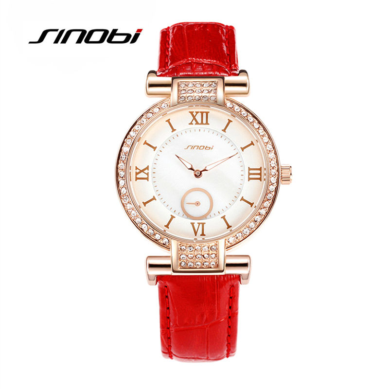 2017 SINOBI New Fashion brand leather strap quartz women watches luxury Diamond women ladies dress watches with GIft BOX<br><br>Aliexpress