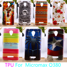 Soft TPU Mobile Phone Cover For Micromax Canvas Spark Q380 4.7 inch Colorful Hard Cover For Micromax Q380 Housing Bag Skin
