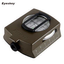 Military Lensatic Compass Eyeskey Survival Military Compass Hiking Outdoor Camping Equipment Geological Compass Compact Scale