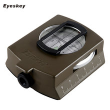 Military Lensatic Compass Eyeskey Survival Military Compass Hiking Outdoor Camping Equipment Geological Compass Compact Scale(China)