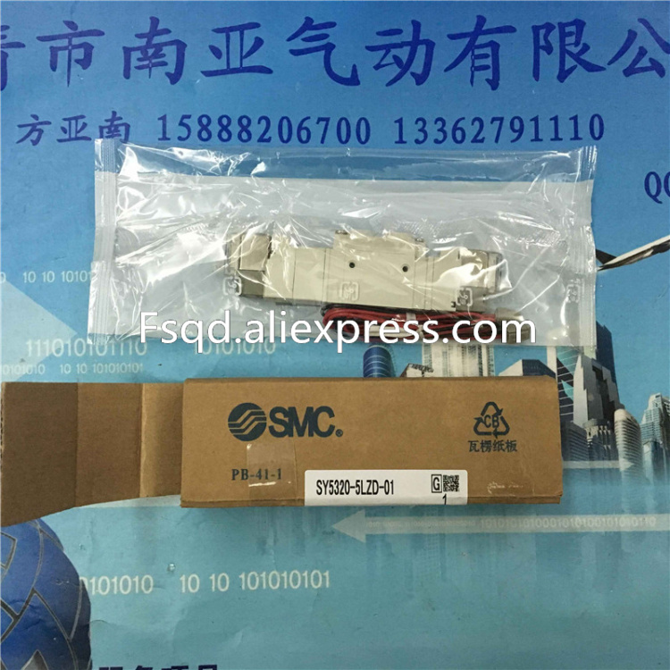 SY5320-5LZD-01 SMC Thin  air solenoid valve  pneumatic component air tool series<br>