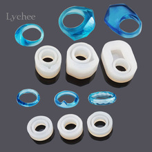 Lychee 1 Piece DIY Ring Silicone Mold Jewelry Rings Resin Casting Mould Handmade Decoration Craft Cute Cat Circle Design