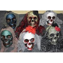 Halloween Scary Skull Hanging Ornaments Ghost Skeleton Prop Wall Decorations Awesome Hallowmas Party Decor(China)