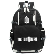 Anime Doctor Who Movie Unisex Backpack Youth Police Box Cartoon Backpacks Rucksack Schoolbag Flash Laptop School Shoulder Bag
