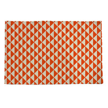 orange geometric pattern print insulation pad Table mat Placemat Bowl mat Waterproof cloth pads Anti slip mat(China)