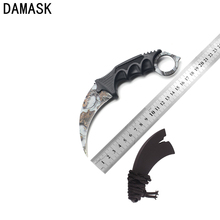 Damask Very Sharp CSGO Counter Strike Ashy Scenery Knife Fighting Knife Hunting Knives Practical Handle Outdoor Knife Karambit(China)