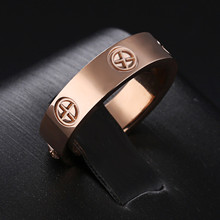 "full Cross nail ""Love"" no Crystal couple rings women men wedding jewelry, famous brand simple design rings two width anel bijoux"
