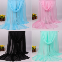 2017 New Design Solid Plain Viscose Chiffon Scarf Scarves Rayon Shawls Wraps For Women Muslim Hijab Hijabs Muffler Soft 10pcs
