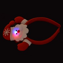 Hoomall Cute Christmas Snowman Head Band Color Changing LED Light Hair Band Christmas Party Decoration Gift For Children 33cm