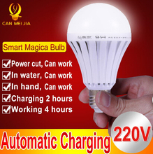 1pcs LED Smart Rechargeable E27 Emergency Light Bulb Lamp Home Commercial Outdoor lighting B22 5W 7W 9W 12W 220V