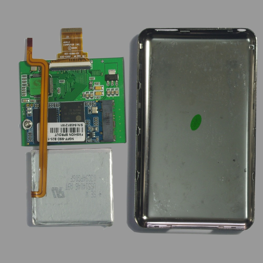 """For iPod classic iPod video 128GB SSD 1.8/"""" with case replace MK8022GAA MK1231GAL"""
